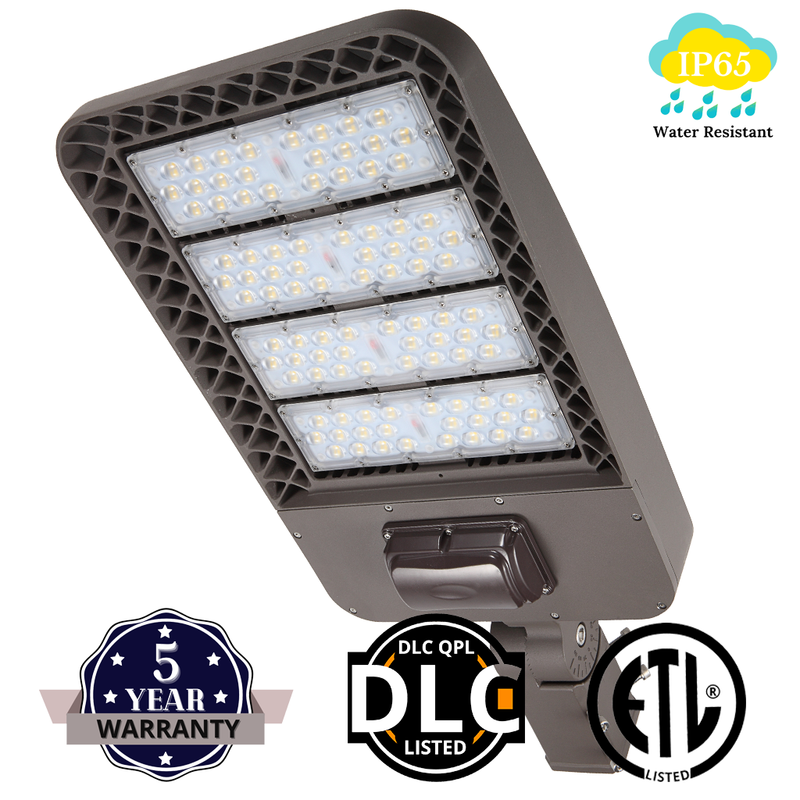 200W Outdoor LED Street Lights - Slip Fitter Mount with Shorting Cap