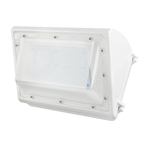 80W Outdoor LED Wall Pack Light - Semi Cutoff - Forward Throw - White