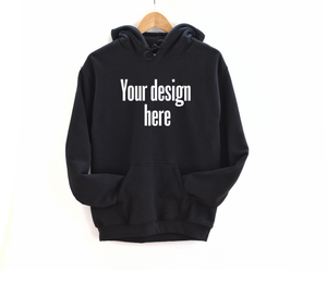Create your own women's black hoodie