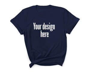 Create your own women's navy t-shirt