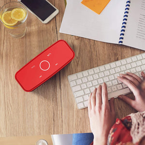 Wireless Bluetooth Speakers with 12W HD Sound and Bass, 20H Playtime, Handsfree, Speakers for Home, Outdoor, Travel-Red - Tolerant Planet