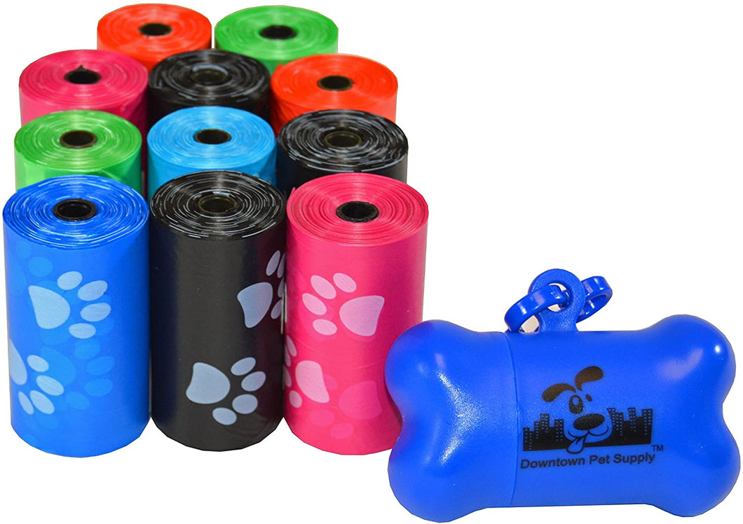 Downtown Pet Supply Dog Waste Poop Bags with Leash Clip and Bag Dispenser - 220, Bags - Tolerant Planet