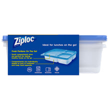 Načíst obrázek do prohlížeče Gallery, Ziploc Containers Storage Containers, Perfect for On-the-go snacking, BPA Free, Divided Rectangle, 2 Count - Tolerant Planet