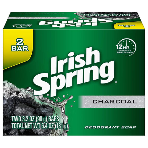 Irish Spring Charcoal Bar Soap - 3.2 Ounce (2 Pack) - Tolerant Planet