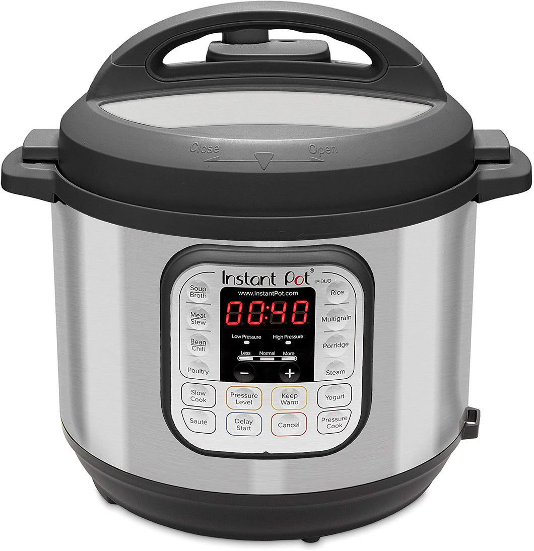 Instant Pot Duo 7-in-1 Electric Pressure Cooker, Sterilizer, Slow Cooker, Rice Cooker, Steamer, Saute, Yogurt Maker, and Warmer, 6 Quart, 14 One-Touch Programs - Tolerant Planet