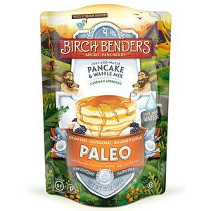 Paleo Pancake and Waffle Mix by Birch Benders, Low-Carb, High Protein, High Fibre, Gluten-free - Tolerant Planet
