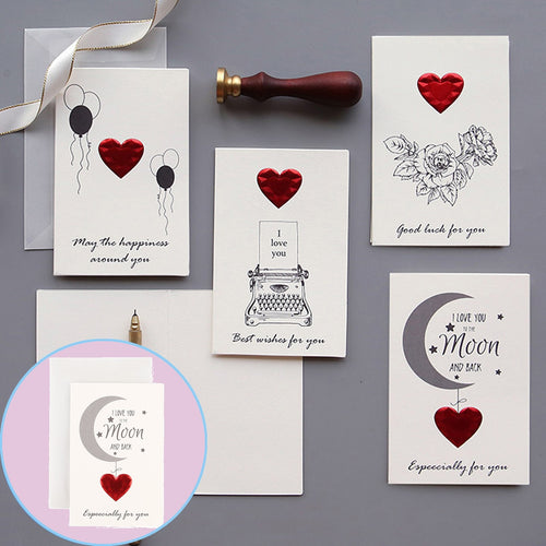 Romantic Valentines Day Greeting Card with Envelopes - Tolerant Planet