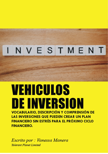 VEHICULOS DE INVERSION - Tolerant Planet