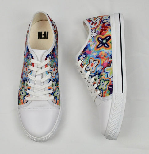 Sunflower High top White Sneakers Shoes Unisex - Tolerant Planet