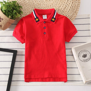 Boys Polo Shirts Short Sleeve Kids Shirt for Boys Collar Tops Tees Fashion Baby Boys Girls Shirts 2-16 Years Child Clothes - Tolerant Planet