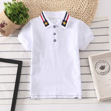 Load image into Gallery viewer, Boys Polo Shirts Short Sleeve Kids Shirt for Boys Collar Tops Tees Fashion Baby Boys Girls Shirts 2-16 Years Child Clothes - Tolerant Planet