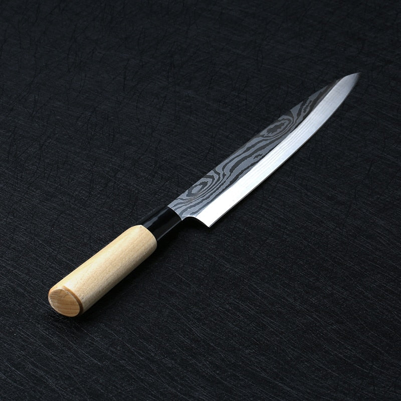 Laser Damascus Chef Knives Japanese Salmon Sushi Knives Stainless Steel Sashimi Kitchen Knife Raw Fish Fillet Layers Cooki Knife - Tolerant Planet