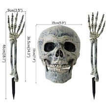 Load image into Gallery viewer, Cyuan Halloween garden decor scary skull skeleton props RIP letter tombstone haunted house hanging Halloween party supplies - Tolerant Planet