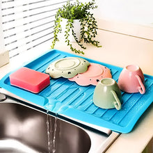 Load image into Gallery viewer, Drain Rack Kitchen Silicone Dish Drainer Tray Large Sink Drying Rack Worktop Organizer Drying Rack For Dishes Tableware - Tolerant Planet