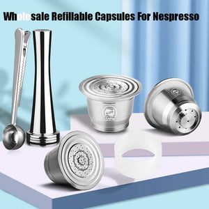 For Nespresso Refillable Capsule Coffee Filter Pod With Dosing Ring tamper nespresso capsule reutilisable - Tolerant Planet