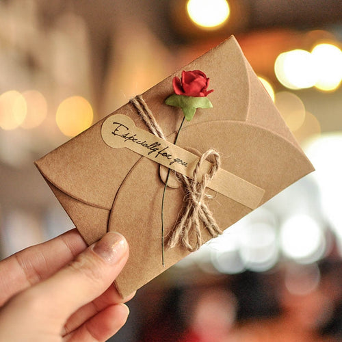5pcs Vintage DIY Mini Envelope Greeting Card handcrafted Envelopes - Tolerant Planet