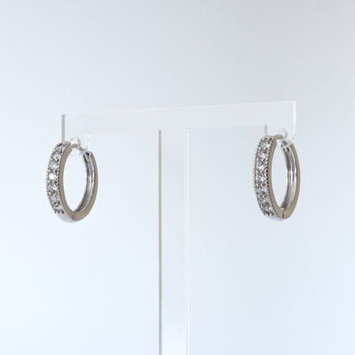 Fine Crystal Encrusted Hoop Earrings - Love & Lilly