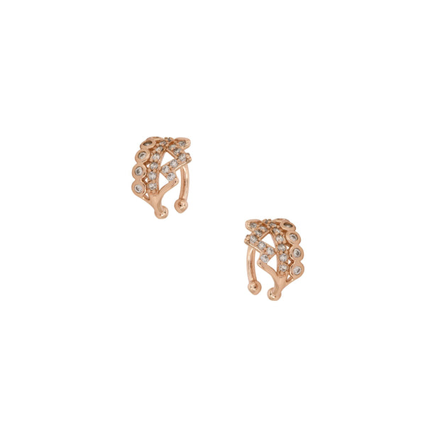 Rose Gold Finished Ear Cuffs - Love & Lilly