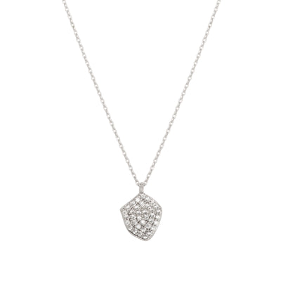 Cubic Zirconia Encrusted Curved Heart Pendant - Love & Lilly