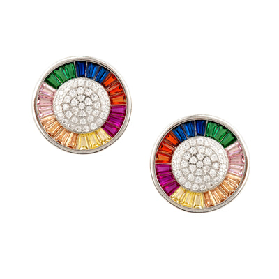 Very Beautiful, Sterling Silver, Chakra Wheel Stud - Love & Lilly