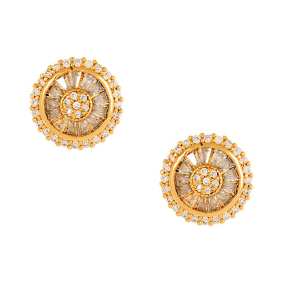 Spectacular Baguette Encrusted Stud - Gold - Love & Lilly