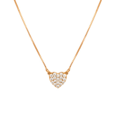 Dainty Crystal Encrusted Heart Pendant - Love & Lilly
