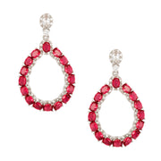 Dazzling Crystal Encrusted Drop Earrings