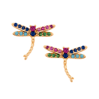 Dainty Dragonfly Stud Earrings - Love & Lilly