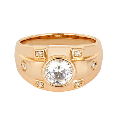 Smart 18ct Gold and AAA Cubic Zirconia Ring - Love & Lilly
