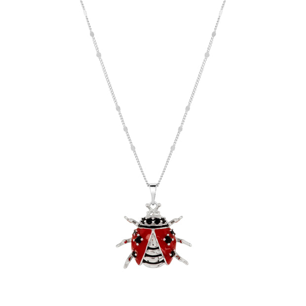 Crystal Ladybird Pendant - Love & Lilly