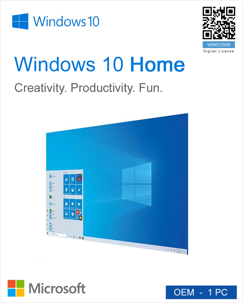 Windows 10 Home OEM - 1PC