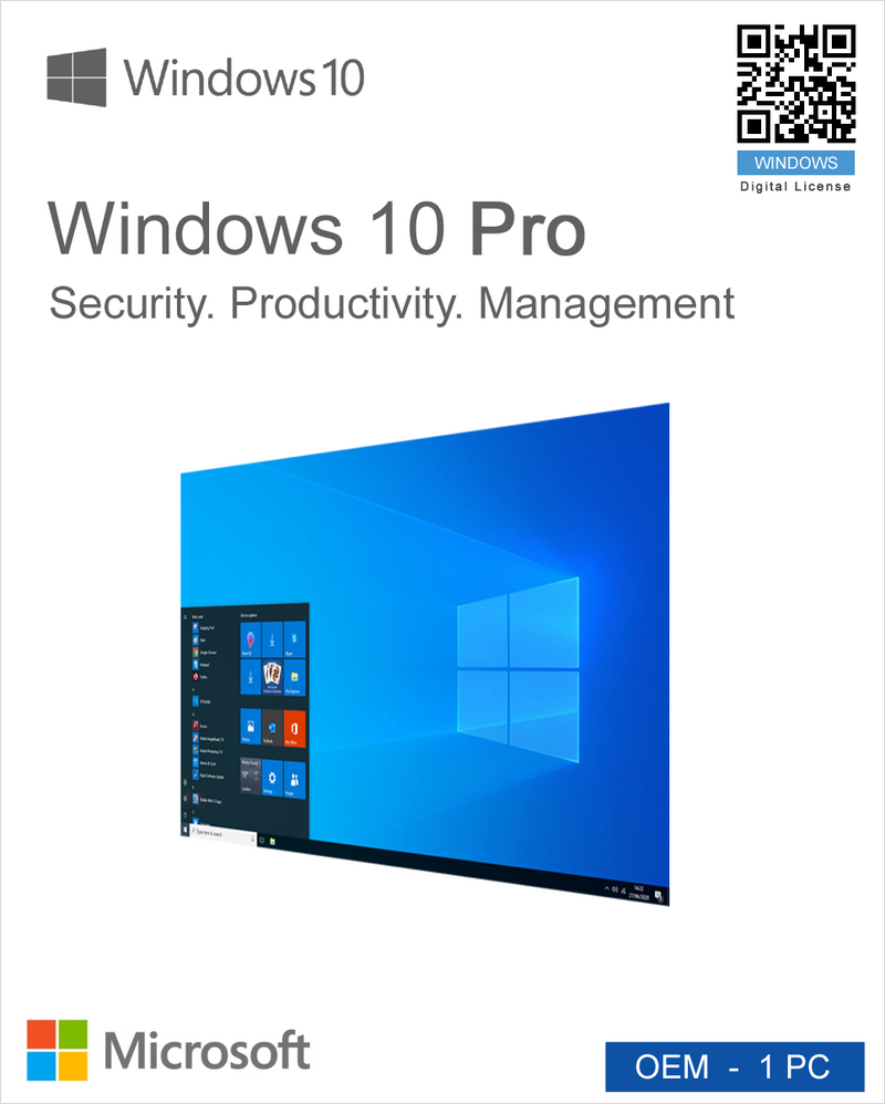 Windows 10 Pro OEM - 1PC