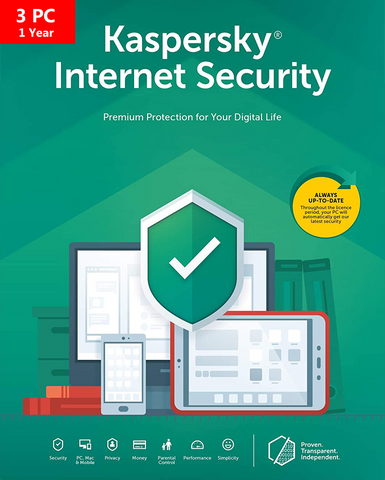 Kaspersky Internet Security 2020 - 1 YR - 3 Devices