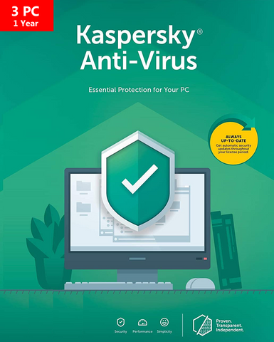 Kaspersky Anti-Virus 2020 - 1 YR - 3 PC