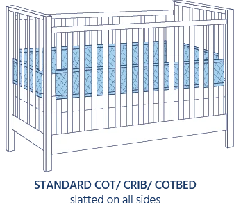 Airwrap Cot Liner 4 side products are good to use in a standard /Cotbed