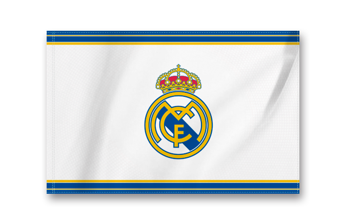 Real Madrid Crest Flag Small White Blue Real Madrid Cf Us Shop