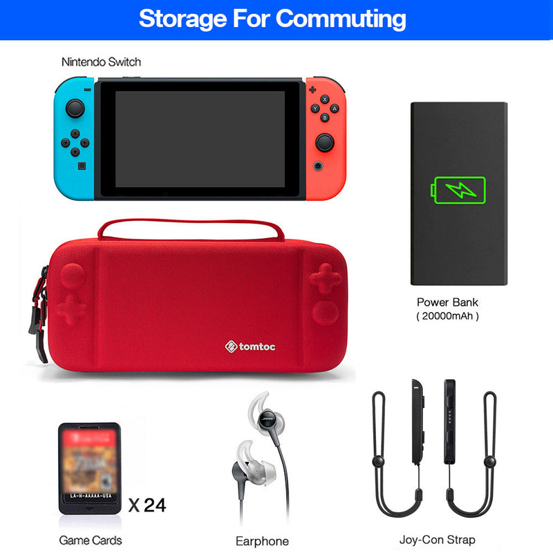 Nintendo Switch Travel Case - Rot