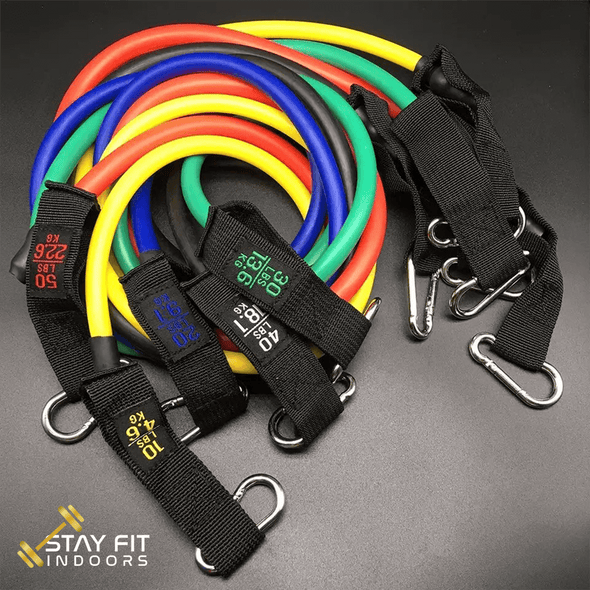 Stay Fit Indoors™ - 5 Pc Resistance Bands Set