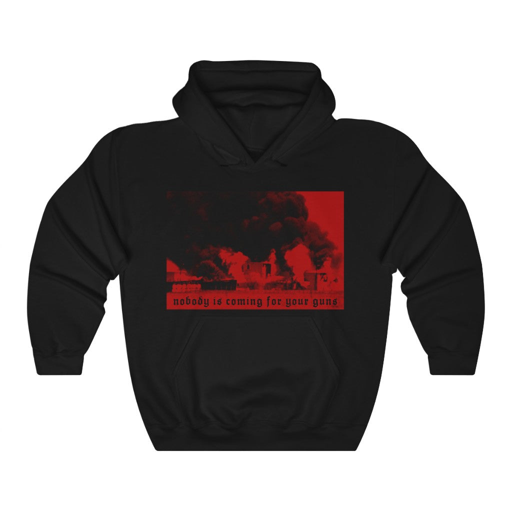 Nobody is coming for your guns Waco ATF Fire Unisex Heavy Blend™ Hooded Sweatshirt