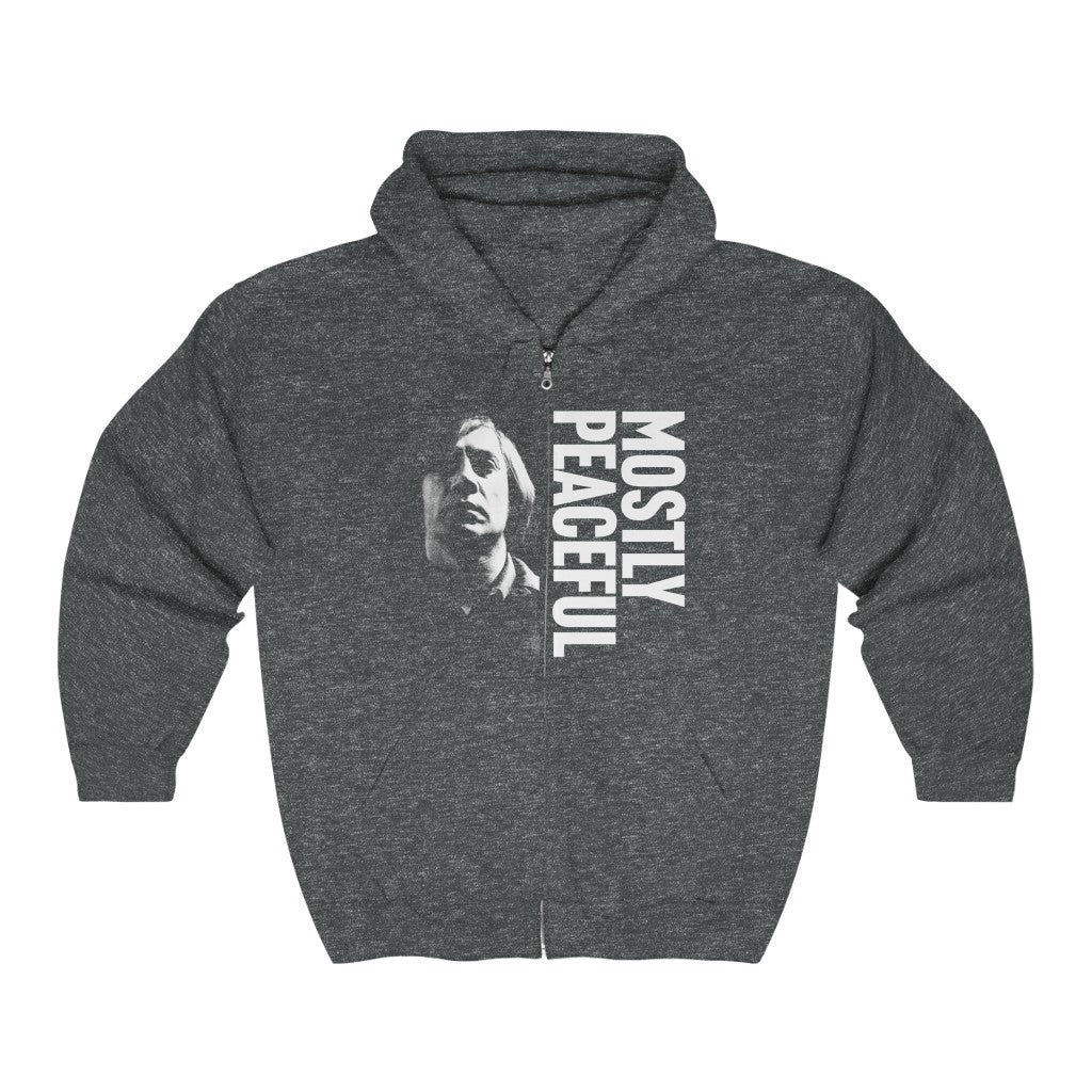 Mostly Peaceful No Country for Old Men Anton Chigurh Unisex Heavy Blend™ Full Zip Hooded Sweatshirt