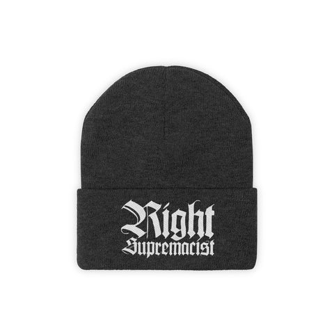 Right Supremacist Knit Beanie Hat