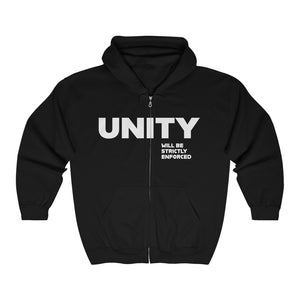 Unity Will Be Enforced Unisex Heavy Blend™ Full Zip Hooded Sweatshirt
