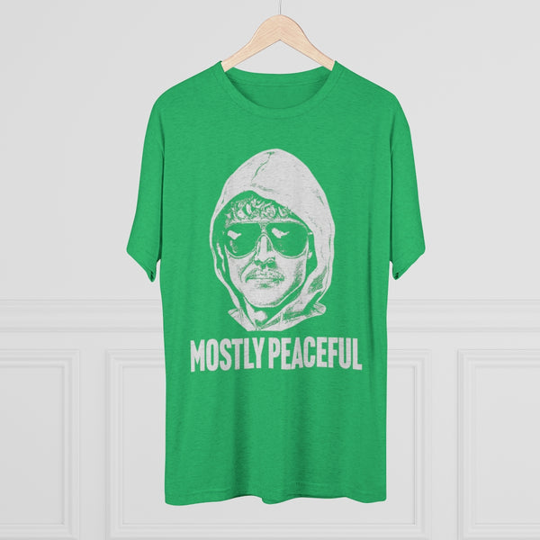 Mostly Peaceful Protestor Unabomber Men's Tri-Blend Crew Tee