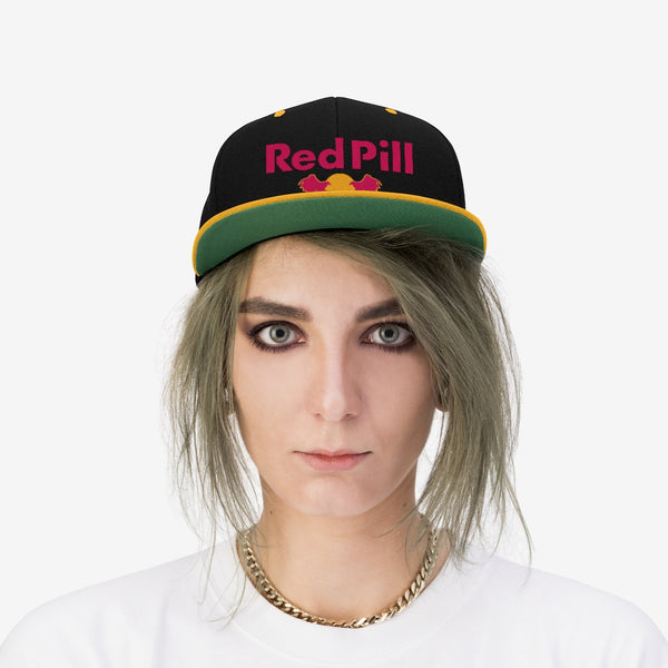 Red Pill Flat Bill Hat