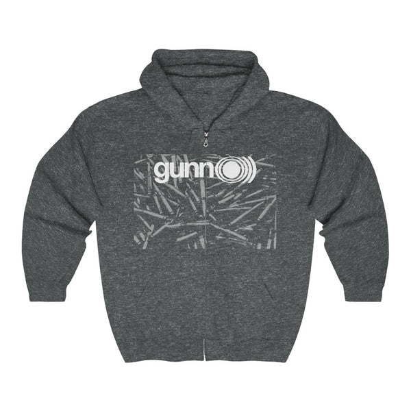 gunnO))) bullets sunnO))) doom drone firearms Unisex Heavy Blend™ Full Zip Hooded Sweatshirt