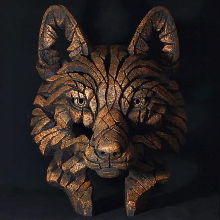 Fox bust Edge Sculpture