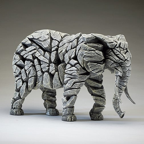 Elephant - White Edge Sculpture
