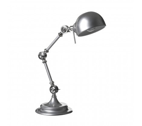 Library desk lamp silver