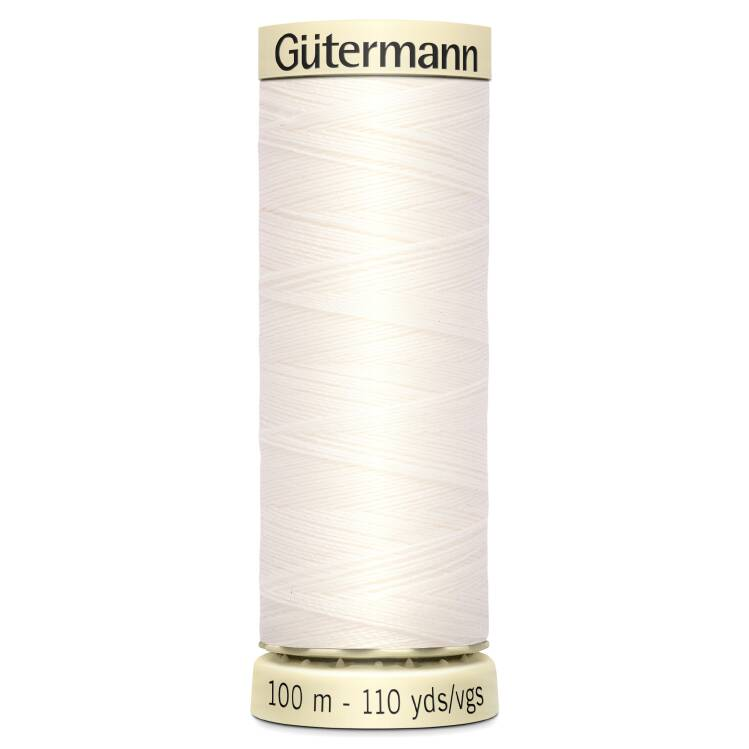 White Sew-All Thread (100m)