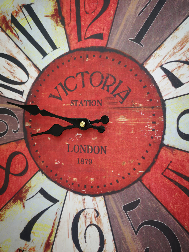 Vintage Square Clock Victoria Station